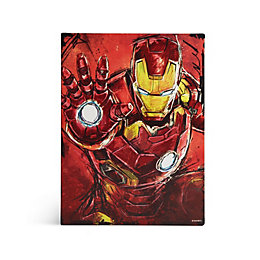 Iron Man Metal Plaque (W)15cm (H)20cm