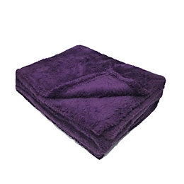 Katya Purple Fleece Throw