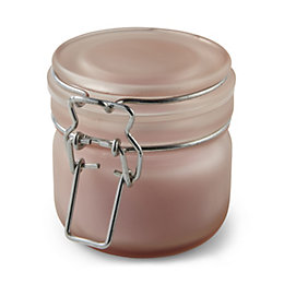 Pink Frosted Clip Top Jar French Rose Candle