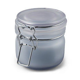 Blue Frosted Clip Top Jar French Rose Candle