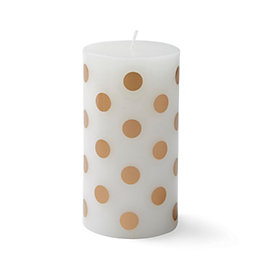 Gold Spot Unscented Pillar Candle Medium