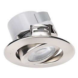 Diall Brushed Nickel Effect LED Tilt Downlight 5.5