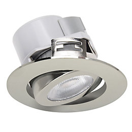Diall Chrome Effect LED Tilt Downlight 5.5 W,