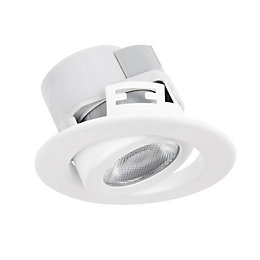 Diall White Gloss LED Tilt Downlight 5.5 W,