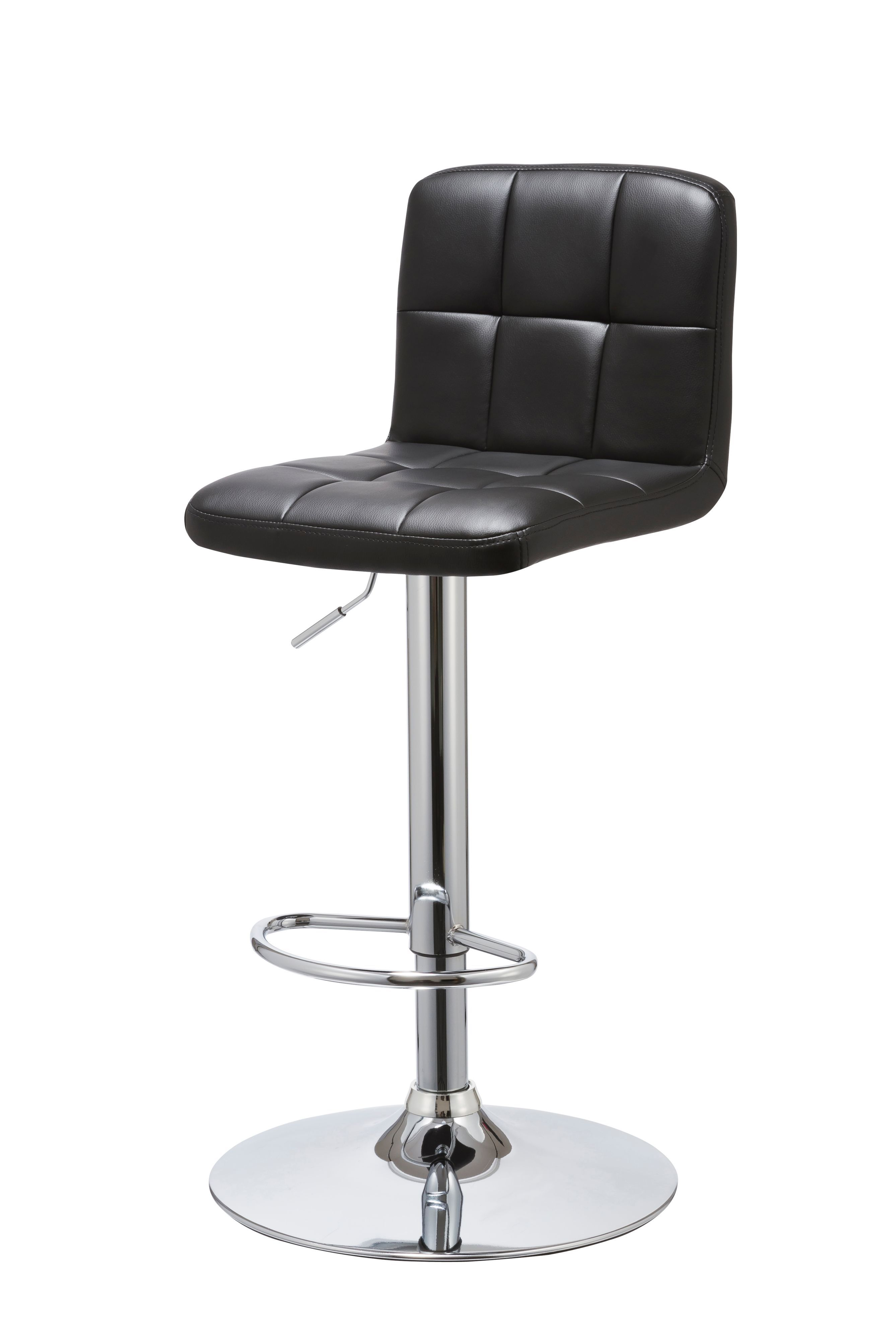 Hadleigh Chrome Effect Bar Stool H 1040mm W 450mm