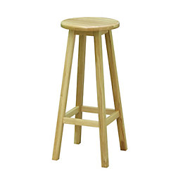 Highworth Oak Bar Stool (H)770mm (W)330mm