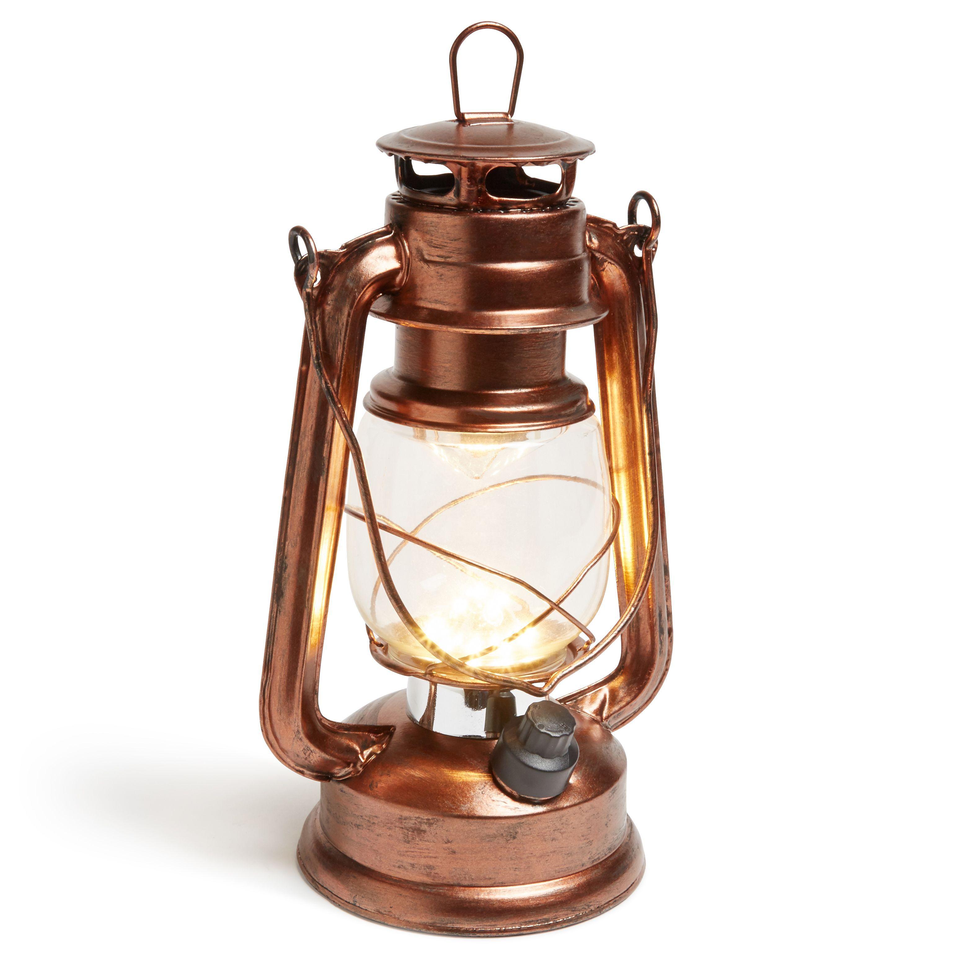 Solar Lights B Q: Blooma Magnes Copper External LED Storm Lantern
