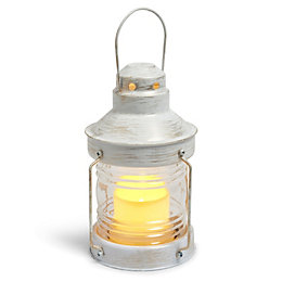 Blooma Lampades White Flickering Candle Lantern