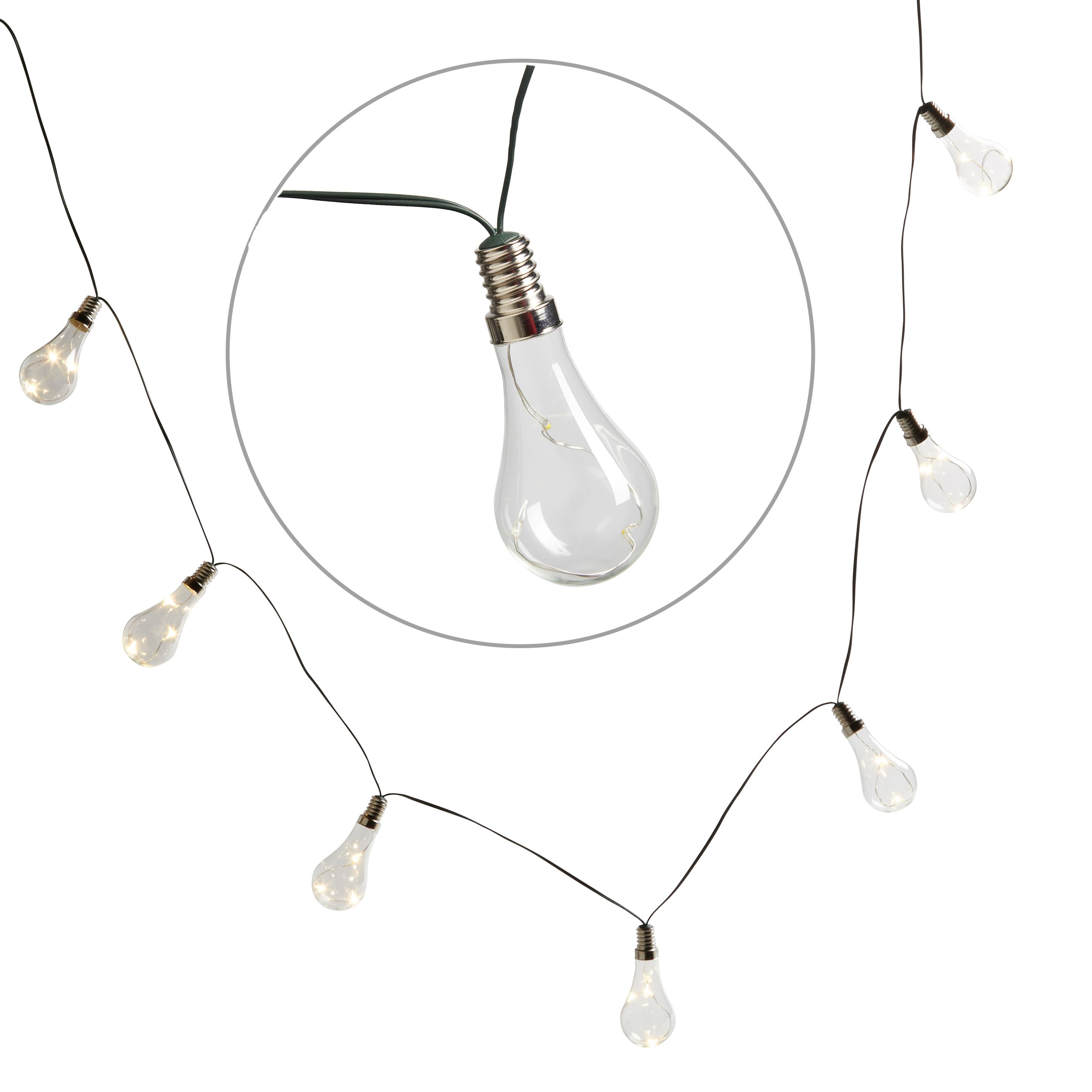 String Lights B And Q : Blooma Gelanor Battery Powered White 10 LED String Lights Departments DIY at B&Q