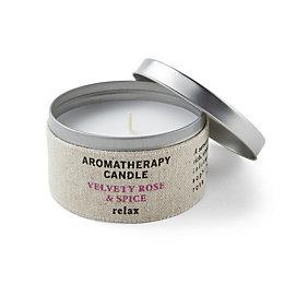 Hessian Aromatherapy Velvety Rose & Spice Tin Candle