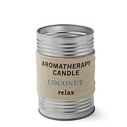Hessian Aromatherapy Coconut Tin Candle