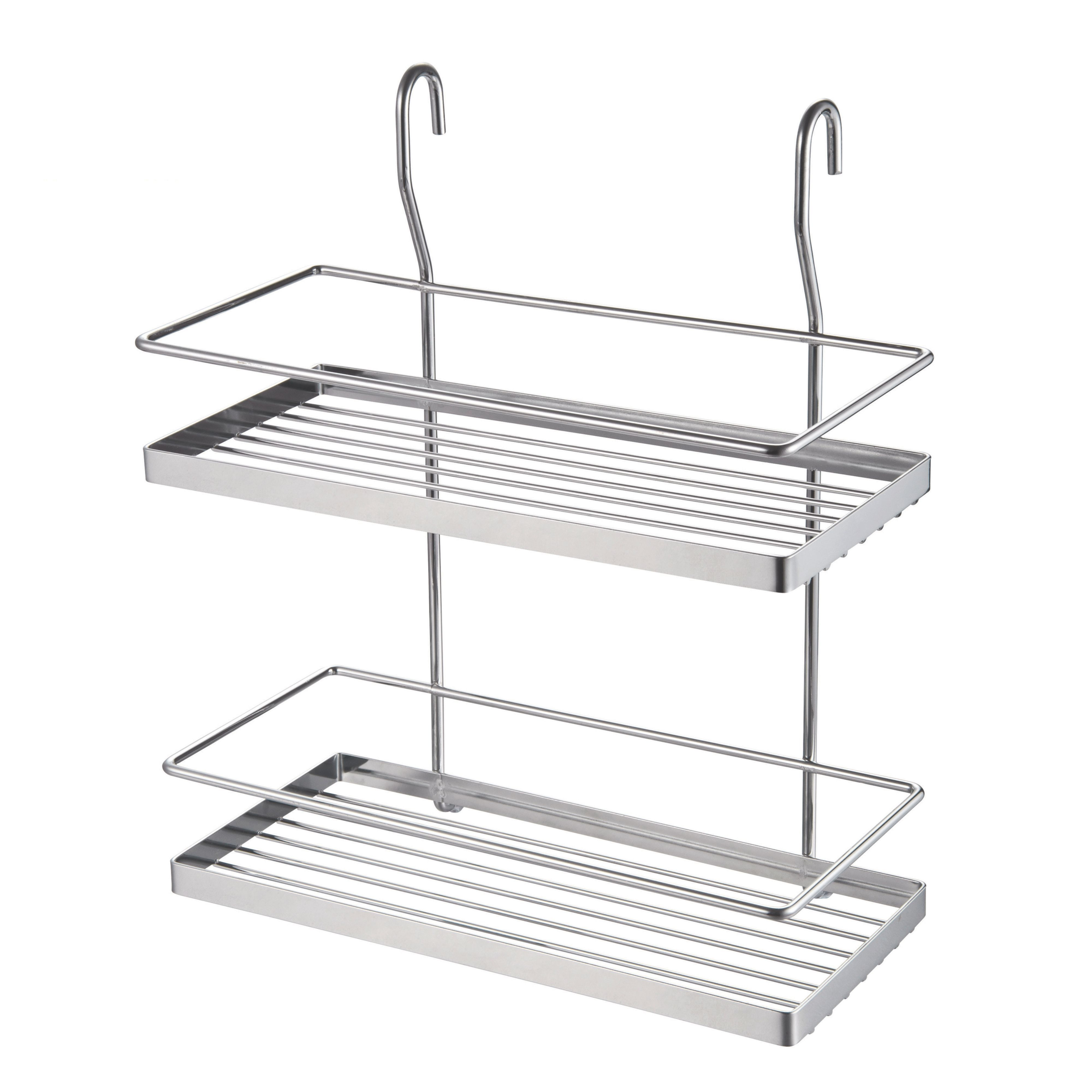 Hastings Chrome Effect Two Tier Wire Shelf (l)300mm (d)180mm Of 1