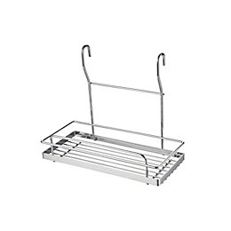Hastings Silver Chrome Effect Single Tier Wire Shelf