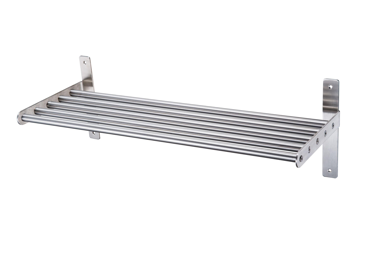 Hastings Silver Effect Tube Shelf (l)610mm (d)220mm Of 1