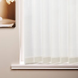 Colours White Vertical Blind (W)240cm (L)137cm