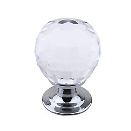 Colours Chrome Effect Cabinet Knob, Pack of 6