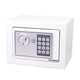 Diall 4500ml Digital Small White Electronic Safe
