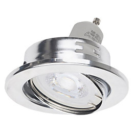 Diall Chrome Effect LED Tilt Downlight 5.3 W,