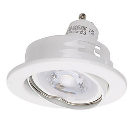 Diall White Gloss LED Tilt Downlight 5.3 W,