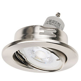 Diall Brushed Nickel Effect LED Tilt Downlight 5.3