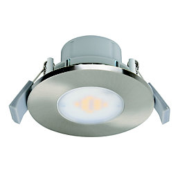 Diall Brushed Nickel Effect LED Fixed Downlight 7.5