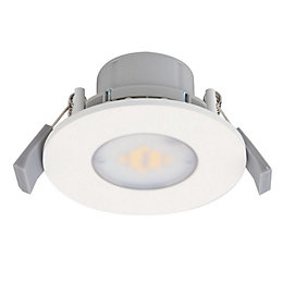 Diall White Matt LED Fixed Downlight 7.5 W,