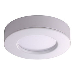 Diall White Gloss LED Fixed 2 In 1
