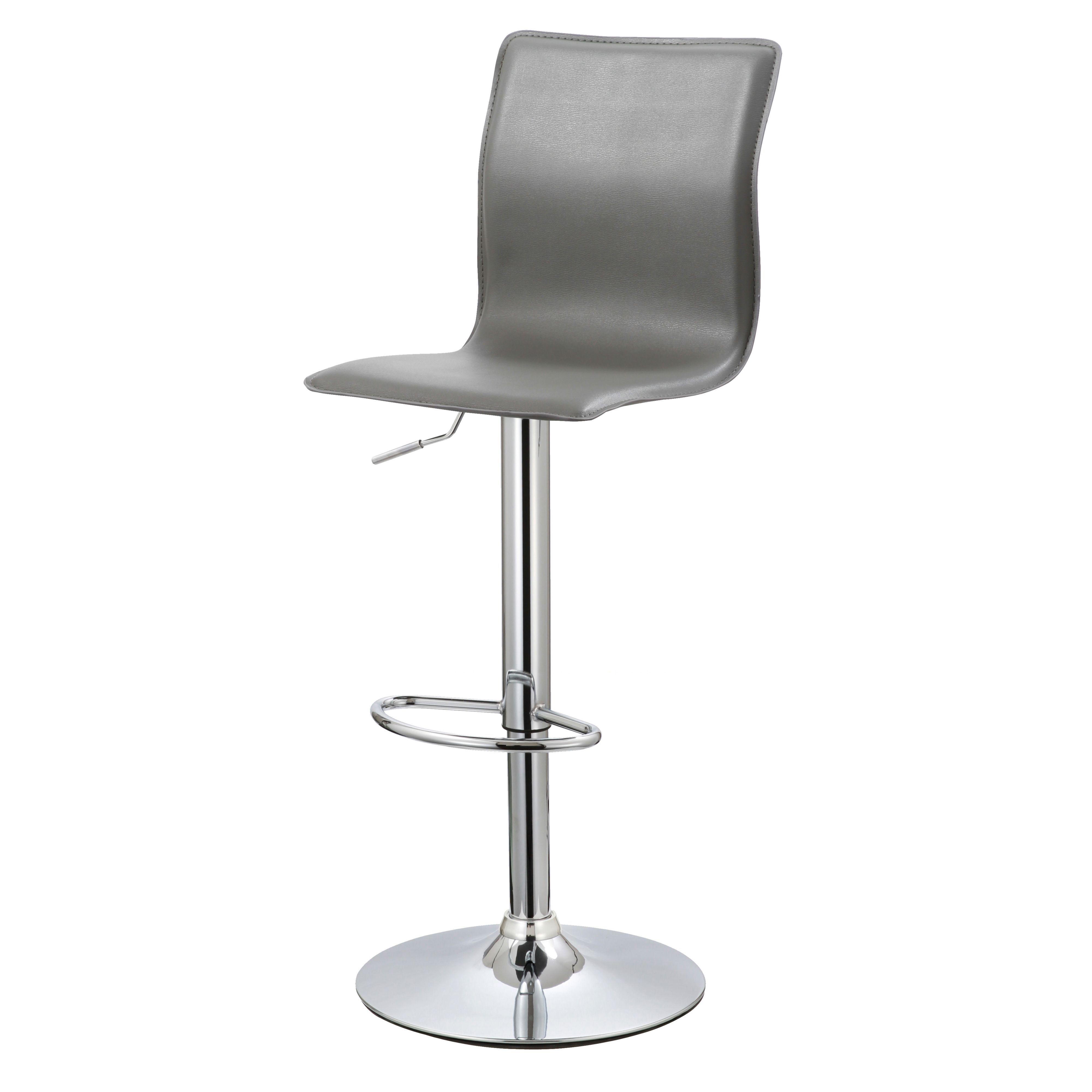 firenze modern chrome effect bar stool h1178mm w450mm