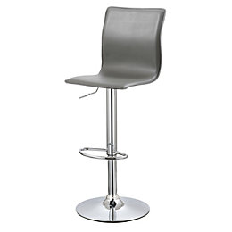 Firenze Modern Grey Bar Stool (H)1178mm (W)450mm