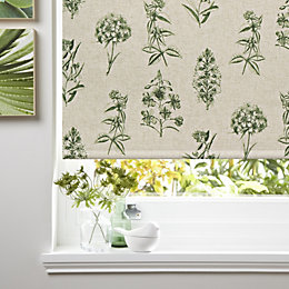 Colours Adelle Corded Green Blackout Roller Blind (L)160cm