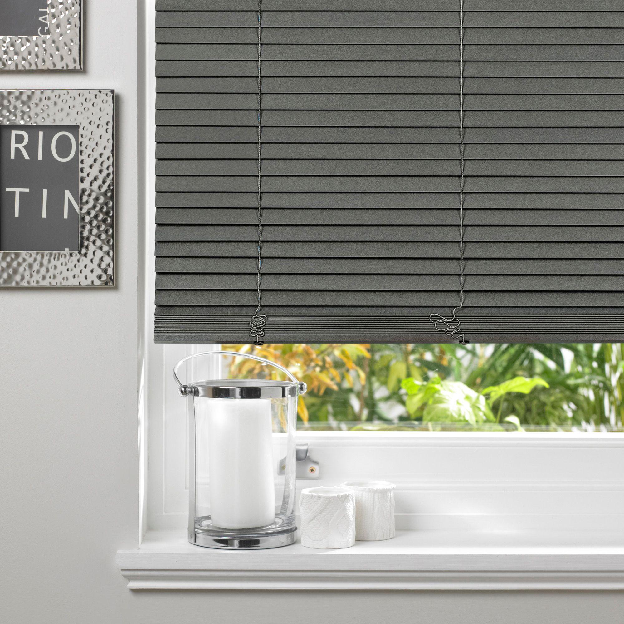 Bathroom Window Blinds B&Q colours marco grey venetian blind (w)60 cm (l)160 cm | departments