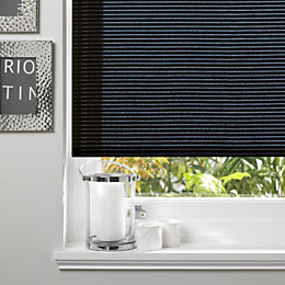 Colours Alexsa Corded Black Roller Blind (L)160cm (W)60cm