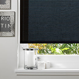 Colours Alexsa Corded Black Roller Blind (L)160cm (W)90cm