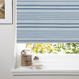 Colours Benedita Corded Blue Blackout Roller Blind (L)160cm