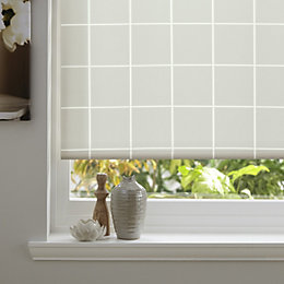 Colours Aylin Corded Cream Roller Blind (L)160cm (W)180cm