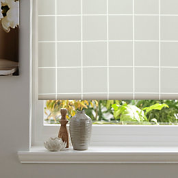 Colours Aylin Corded Cream Roller Blind (L)160cm (W)90cm