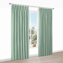 Prestige Oural Plain Pencil Pleat Lined Curtains (W)117cm