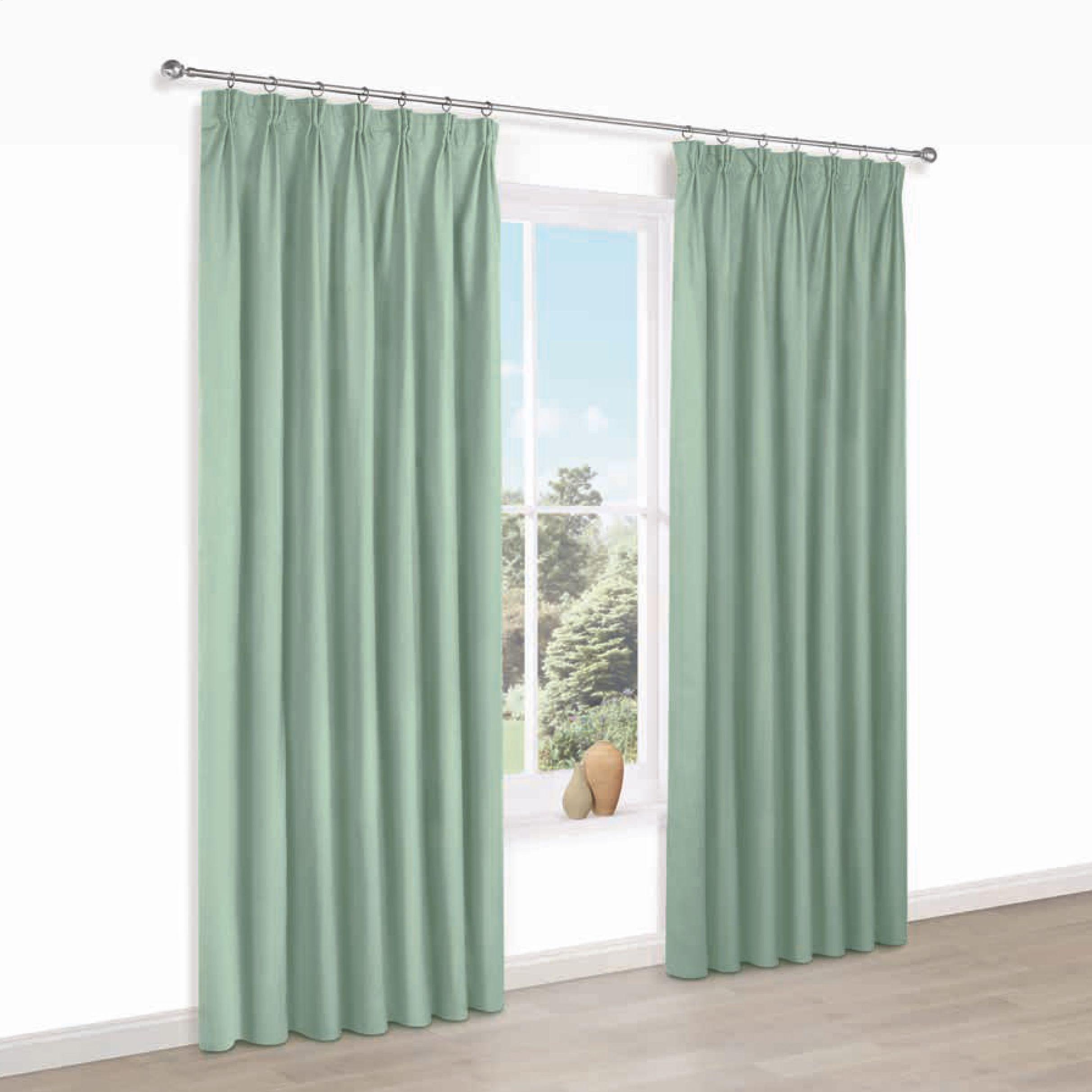 Prestige Oural Plain Pencil Pleat Lined Curtains (w)167 Cm (l)228 Cm