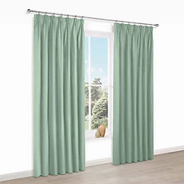 Prestige Oural Plain Pencil Pleat Lined Curtains (W)228