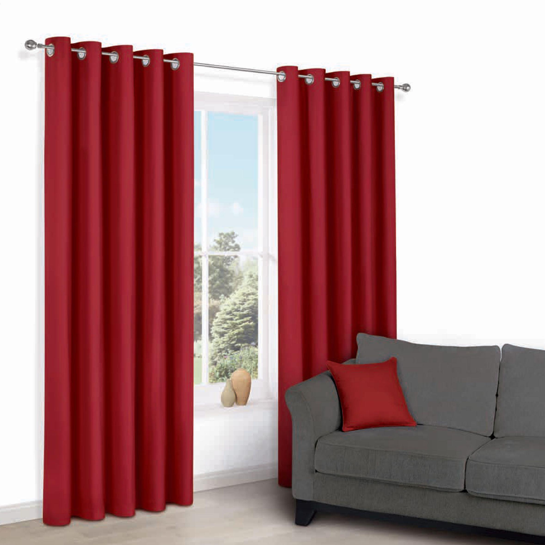 Zen Flame Plain Eyelet Curtains (w)167 Cm (l)183 Cm