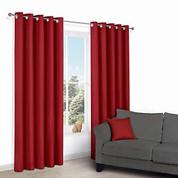 Zen Flame Plain Eyelet Curtains (W)228cm (L)228cm