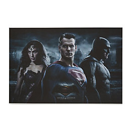 Batman V Superman Fight Red Canvas Art (W)60cm