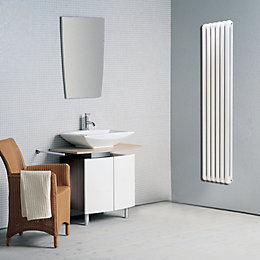 Conqueror 2 Column Radiator, White (W)440mm (H)1884mm