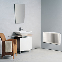 Conqueror 2 Column Radiator, White (W)1210 mm (H)602