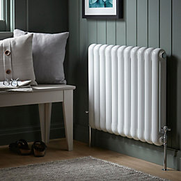 Chunky 2 Column Radiator, White (W)790mm (H)602mm