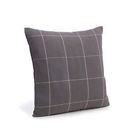 Carlena Checked Grey Cushion