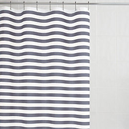 Malo Grey Stripe Shower Curtain (L)1.8 M
