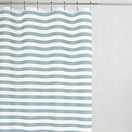 Malo Duck Egg Stripe Shower Curtain (L)1.8 M