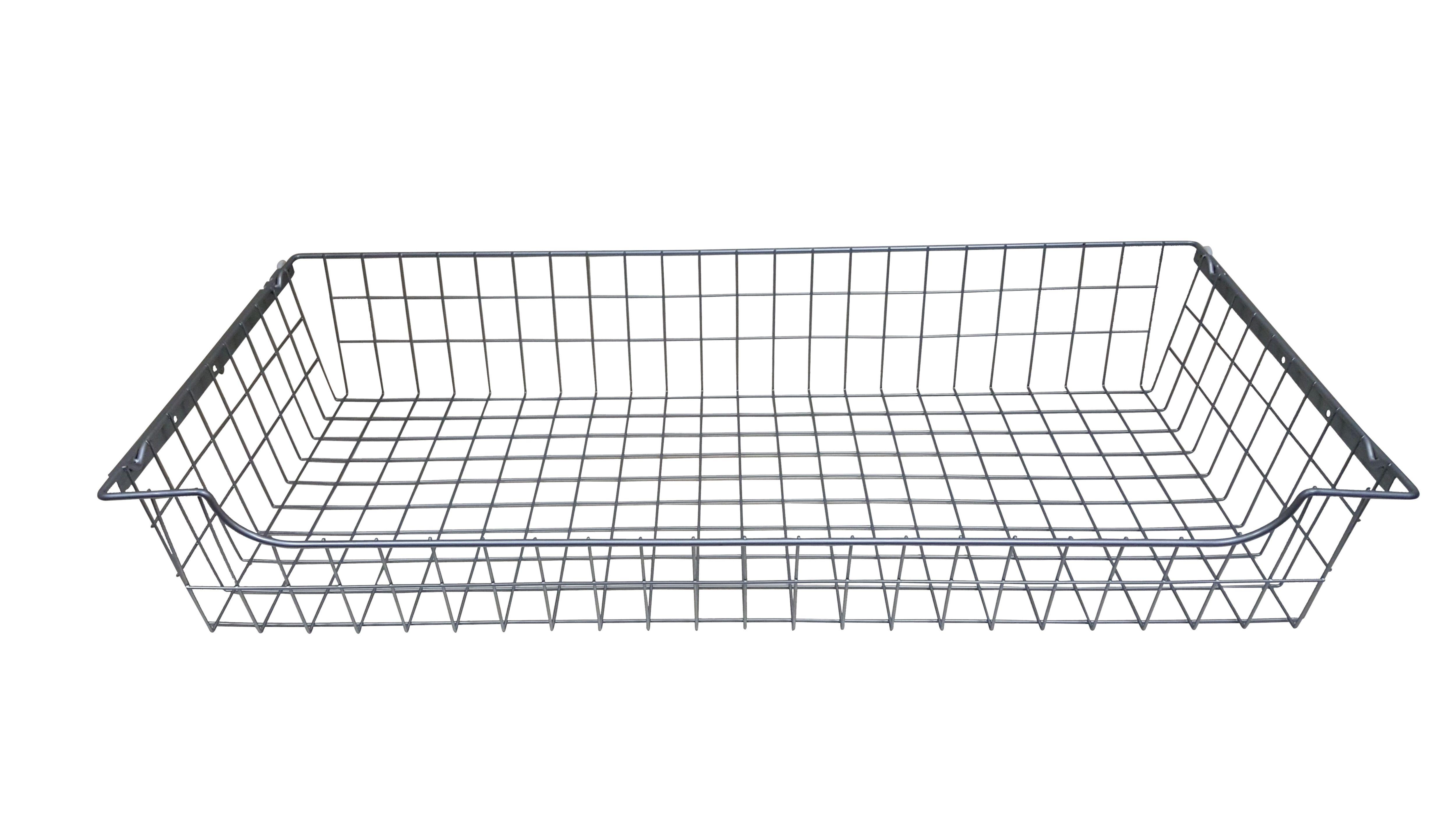 Perkin Silver Sliding Wire Storage Basket (w)975mm