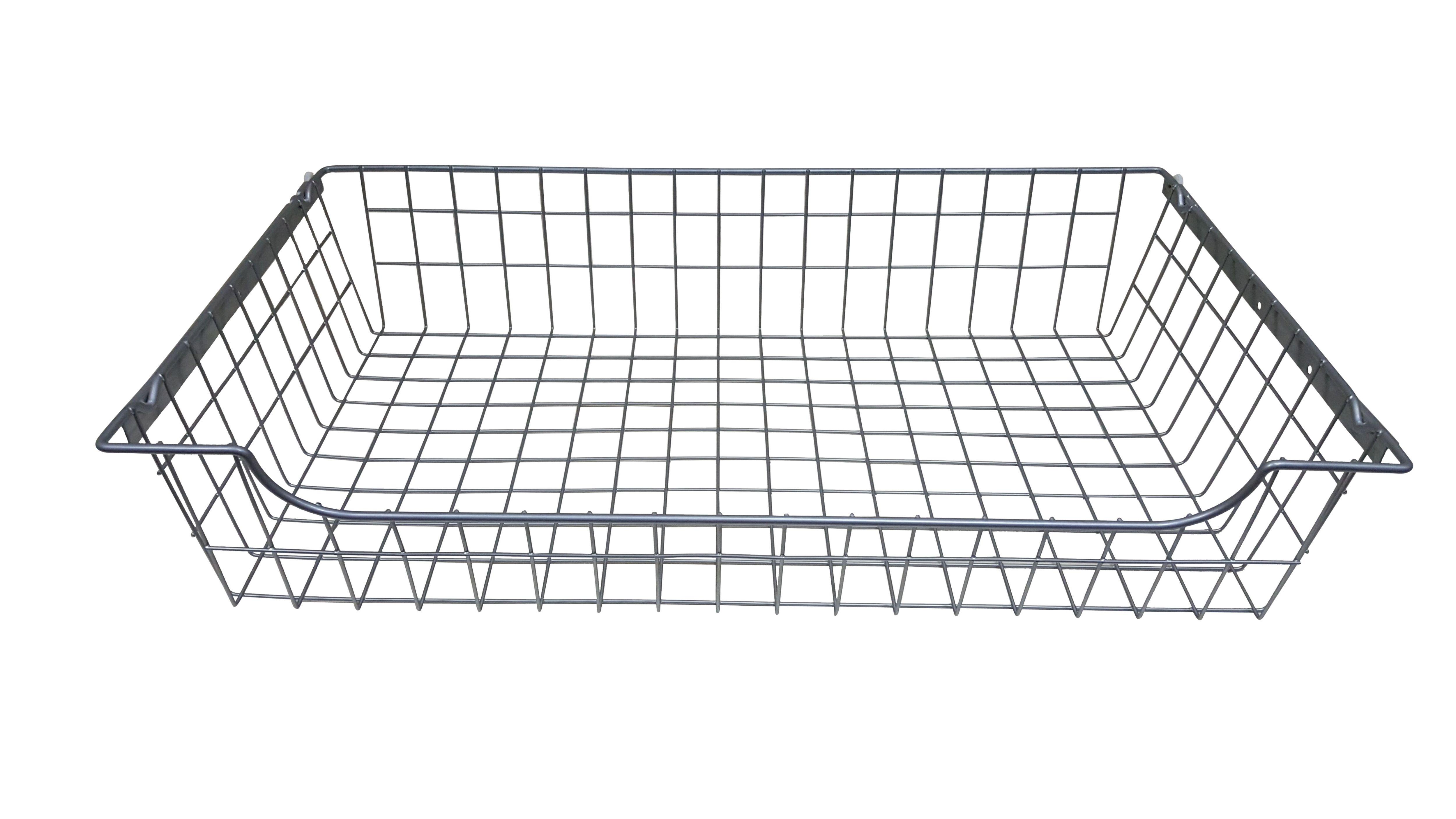 Perkin Silver Sliding Wire Storage Basket (w)775mm